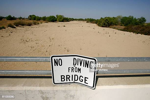 The Kern River remains dry a condition that is expected to continue as water upstream is diverted on May 8 2008 in Bakersfield California Opening of...
