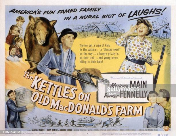 The Kettles On Old Macdonald's Farm lobbycard Parker Fennelly Marjorie Main Gloria Talbott John Smith 1957