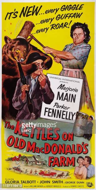 The Kettles On The Old Macdonald's Farm poster US poster art clockwise from top left Parker Fennelly Marjorie Main George Dunn John Smith Gloria...