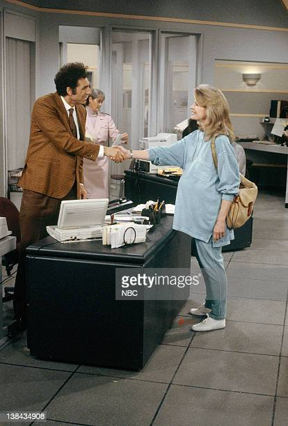 SEINFELD 'The Keys' Episode 23 Pictured Michael Richards as Cosmo Kramer Candice Bergen as Murphy Brown