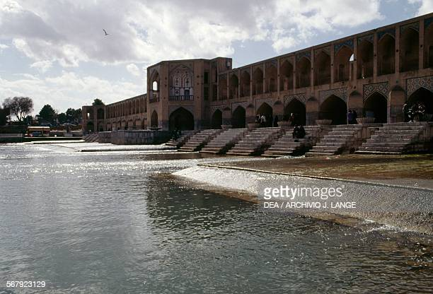 The Khaju bridge-dam, ca 1650, Zayandeh river, Isfahan . Iran, 17th century.