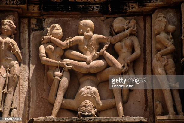 The Khajuraho Group of Monuments in Khajuraho a town in the Indian state of Madhya Pradesh Khajuraho has the largest group of medieval Hindu and Jain...
