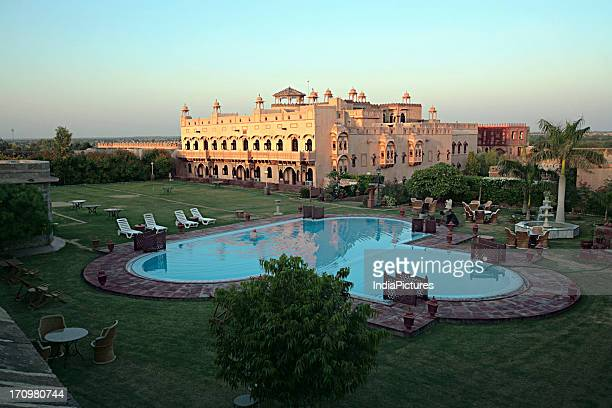 The Khimsar Fort now a premium heritage hotel was constructed by Rao Karamsiji the 8th son of Rao Jodha the founder of Jodhpur Rajasthan India