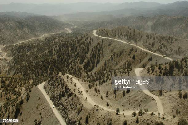 The KhostGardez Highway cuts through a high pass near Gardez Paktia Province southeast Afghanistan on September 9 2007 This is the region of...