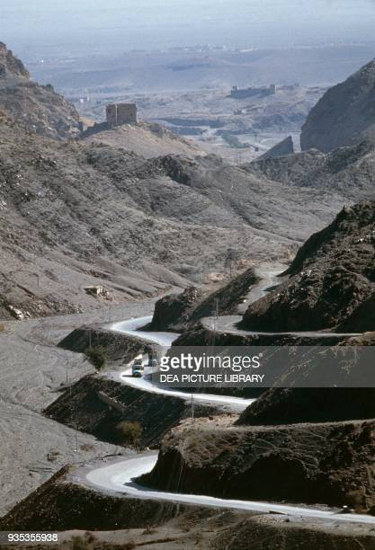 The Khyber pass between Pakistan and Afghanistan