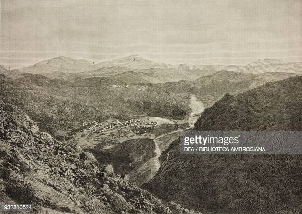 The Khyber Pass from the summit of Ali Masjid Second AngloAfghan War illustration from the magazine The Graphic volume XIX no 497 June 7 1879
