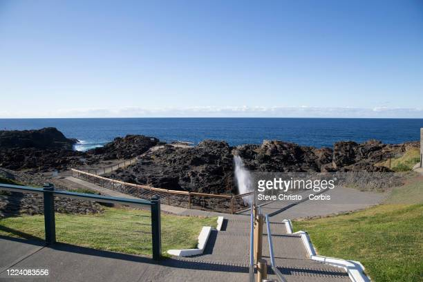 May 11: The Kiama Blow Hole on May 11, 2020 in Kiama New South Wales, Australia.