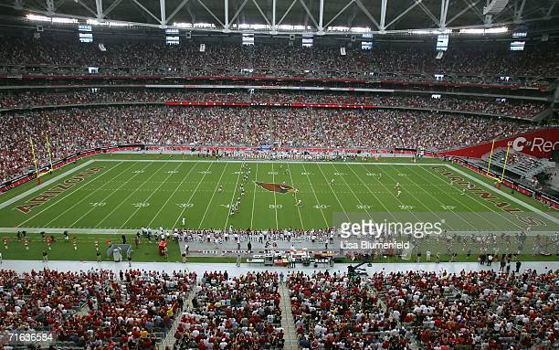 The kick off starts the preseason game between the Arizona Cardinals and the Pittsburgh Steelers August 12 2006 at Cardinals Stadium in Glendale...