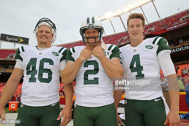 The Kicking Team of the New York Jets poses during the game against the Kansas City Chiefs on September 25 2016 at Arrowhead Stadium in Kansas City...