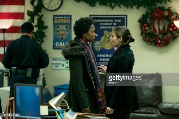 HAPPY 'The Kid Ain't Mine' Episode 102 Pictured Medina Senghore as Amanda Hansen Lili Mirojnick as Detective Meredith McCarthy