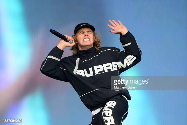 The Kid LAROI performs on Day 3 of Leeds Festival 2021 at Bramham Park on August 29, 2021 in Leeds, England.