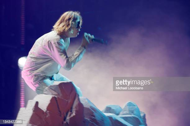 The Kid LAROI performs onstage during the 2021 MTV Video Music Awards at Barclays Center on September 12, 2021 in the Brooklyn borough of New York...