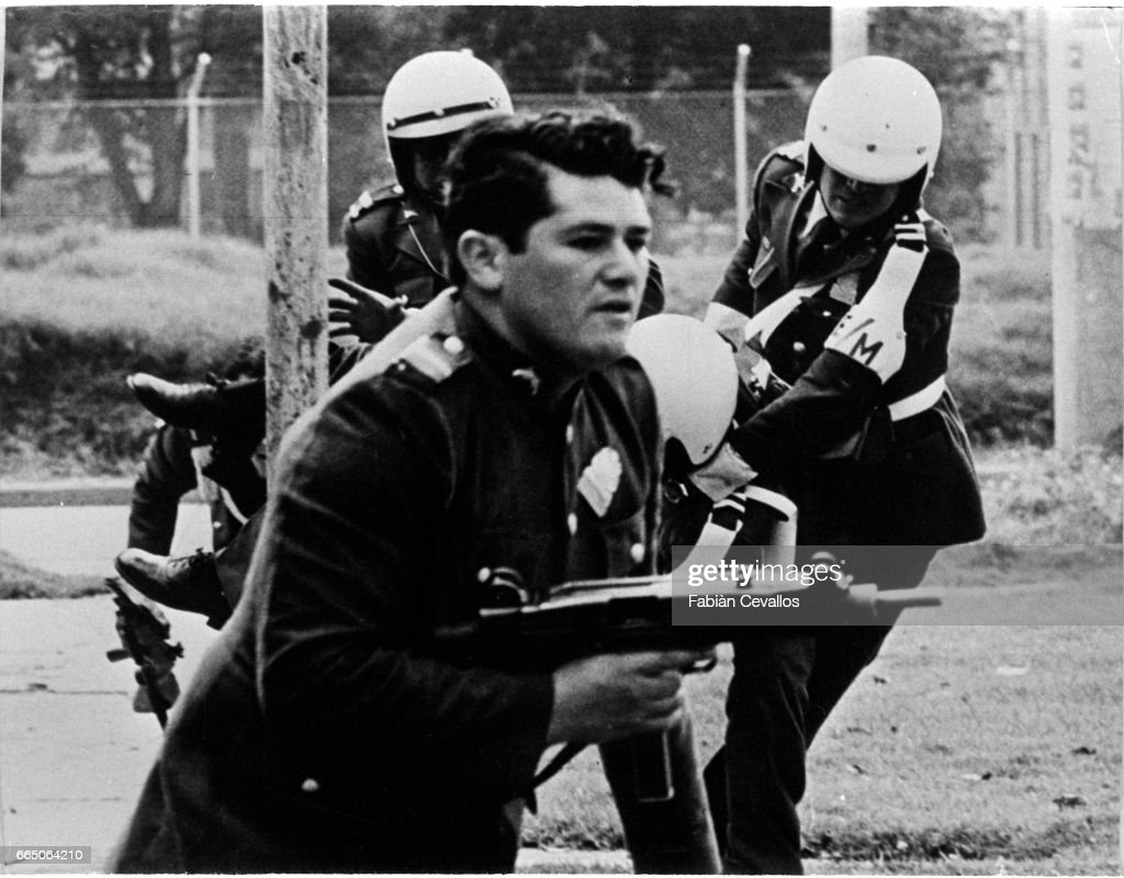 Colombian Police Officers During The 1980 Hostage Crisis
