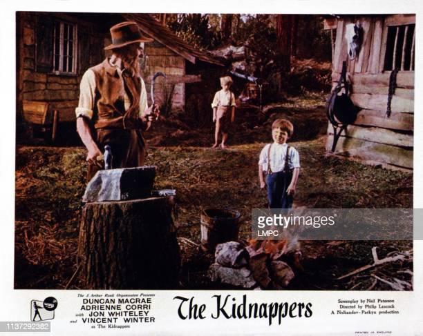 The Kidnappers lobbycard British lobbycard front from left Duncan Macrea Jon Whiteley 1953