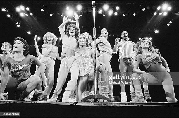 The Kids from 'Fame' performing one of three stage shows they gave at Wembley Arena London 8th9th April 1983 The group features cast members from the...