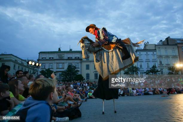 The Kiev Street Theatre 'Highlights' from Ukraine performances 'Dance Pageant' during the 31 ULICA International Street Theatre Festival at the Main...
