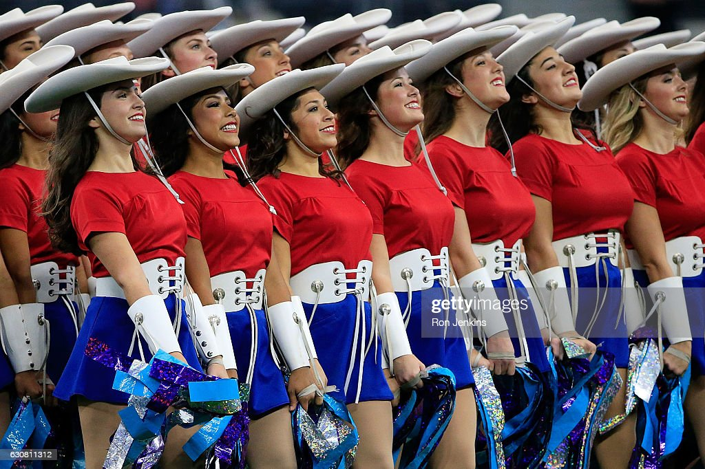The Kilgore College Rangerettes perform before the 81st Goodyear Cotton Bowl Classic between Western Michigan and Wisconsin at AT&T Stadium on January 2, 2017 in Arlington, Texas.