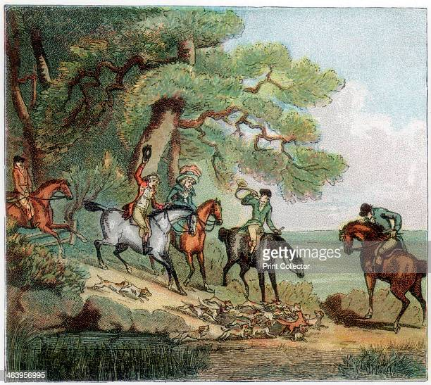 The kill fox hunting 1787 A print from The Graphic 6 December 1890