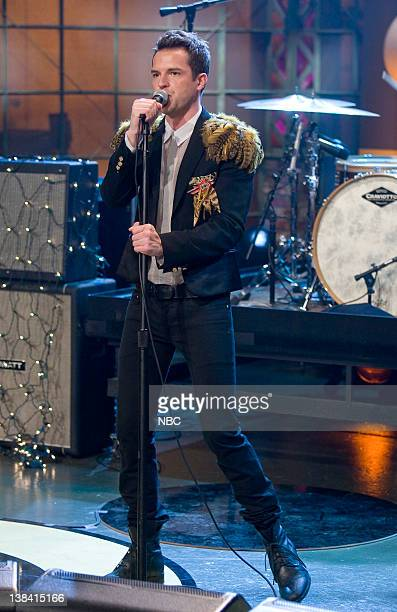 LENO The Killers Air Date Episode 3664 Pictured Musical guest the Killers perform on November 25 2008