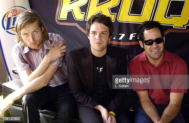 The Killers during KROQ Miller Lite Island Invasion 4 Backstage at Glen Helen Hyundai Pavillion in Devore California United States