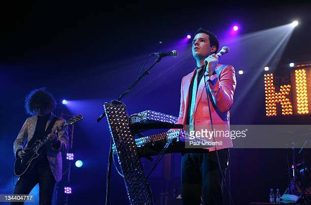 The Killers during Shockwaves NME Awards Tour - The Killers, Kaiser Chiefs, Bloc Party and Futureheads - February 9, 2005 at Brixton Academy in...