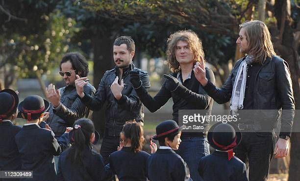 The Killers during The Killers Read My Mind Video Shoot January 10 2007 in Tokyo Japan