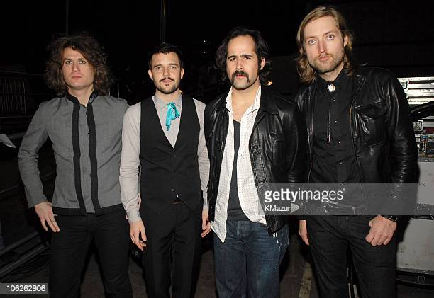 The Killers during VH1 Big in '06 Backstage and Front Row at Sony Studios in Culver City California United States