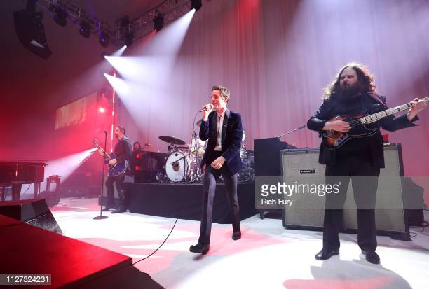The Killers perform onstage during the 27th annual Elton John AIDS Foundation Academy Awards Viewing Party sponsored by IMDb and Neuro Drinks...