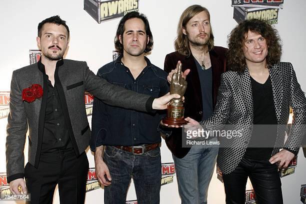 The Killers winners of best Video at the Hammersmith Palais in London United Kingdom