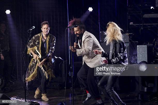 The Kills perform with Reggie Watts on 'The Late Late Show with James Corden' Thursday Sept 1 On the CBS Television Network
