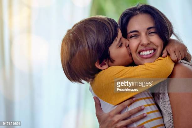 the kind of love that can't be described, only felt - mother and son stock photos and pictures