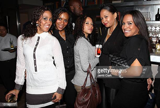The Kinetex PR team attends a Hennessey Black party to celebrate DJ DNice signing to Roc Nation DJ's at The Cooper Square Hotel on November 16 2010...