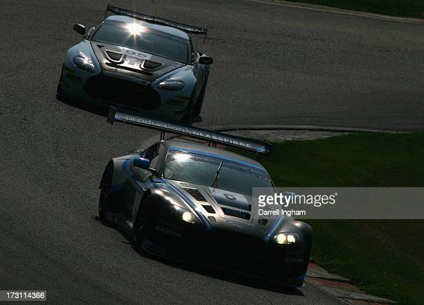 The Kinfaun Racing Aston Martin Vantage GT3 driven by John Gaw and Phil Dryburgh in the Aston Martin GT Centenary race during the Aston Martin...