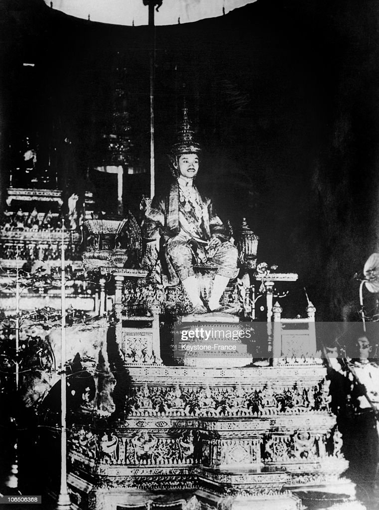 King Rama Vii Of Thailand, In 1925 : News Photo