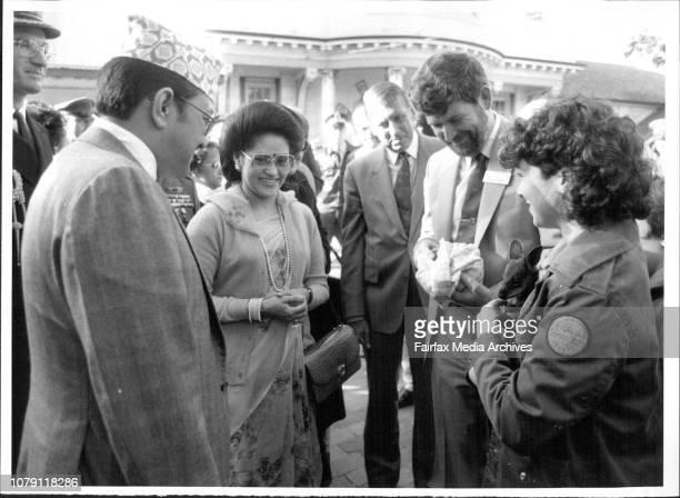 The King and Queen meeting one of the Zoo's WallabiesThe King and Queen of Nepal Birendra Bir Bikram Shah Dev and Aishwarya Rajya Laxmi Devi Shah...