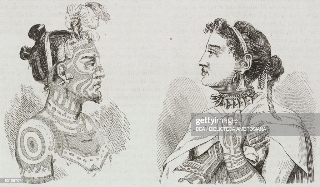 the king and queen of one of the marquesas islands french polynesia