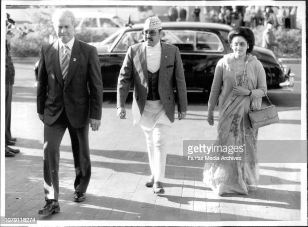 The King and Queen on their arrival at Taronga PkThe King and Queen of Nepal Birendra Bir Bikram Shah Dev and Aishwarya Rajya Laxmi Devi Shah visit...
