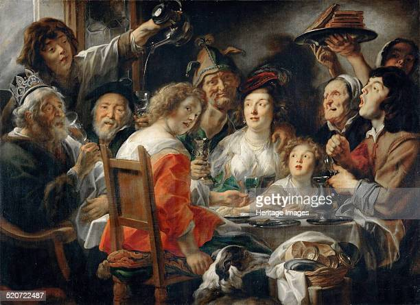 The King Drinks or Family Meal on the Feast of Epiphany Found in the collection of Louvre Paris