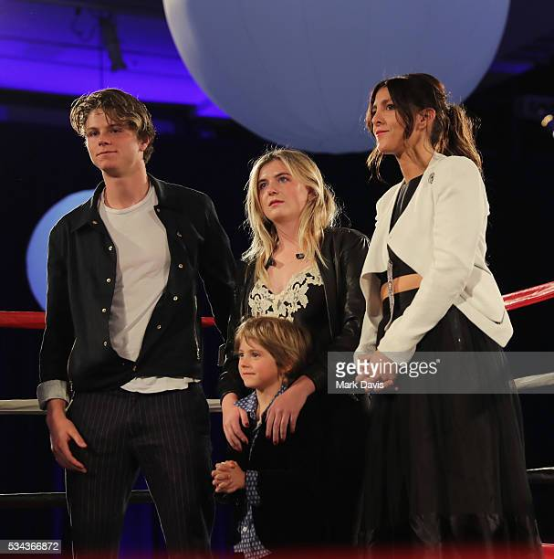 The King family attend B Riley Co and Sugar Ray Leonard Foundation's 7th Annual Big Fighters Big Cause Charity Boxing Night at Dolby Theatre on May...