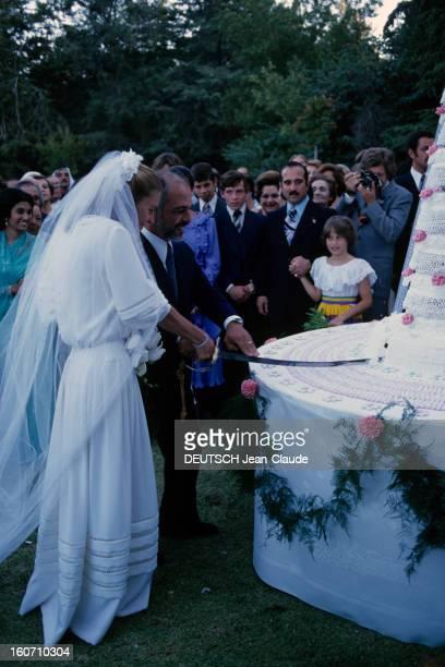 The King Hussein Of Jordan Marries The American Lisa Halaby En Jordanie à Amman le 15 juin 1978 lors de leur mariage le Roi HUSSEIN DE JORDANIE et...