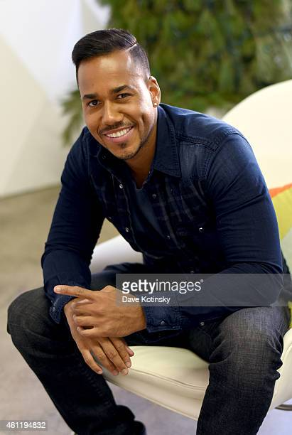 The King of Bachata Romeo Santos poses for photos for the Dr Pepper 'Dare to Discover' campaign on January 8 2015 in New York City