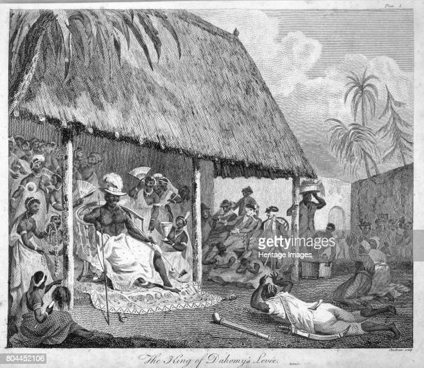 The King of Dahomey's levee 1793 Plate 1 from The History of Dahomey by Archibald Dalzel Artist Francis Chesham
