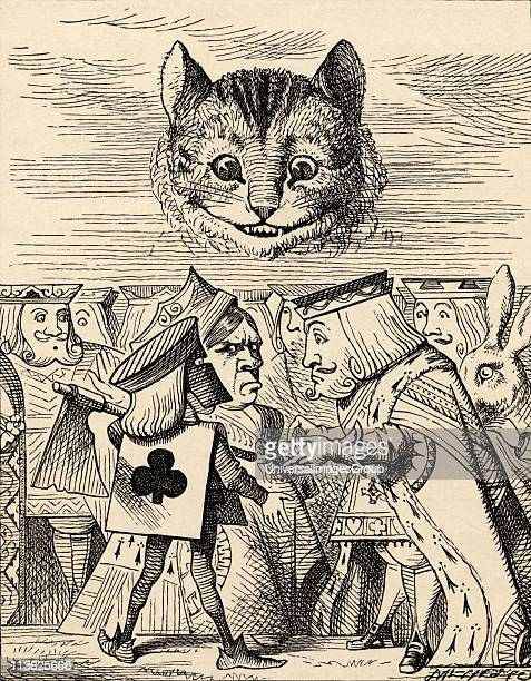 The King of Hearts arguing with the Executioner Illustration by John Tenniel from the book Alices's Adventures in Wonderland by Lewis Carroll...