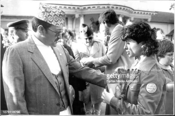 The King of Nepal meets a Wallaby during a tour of Taronga Park ZooThe King and Queen of Nepal Birendra Bir Bikram Shah Dev and Aishwarya Rajya Laxmi...