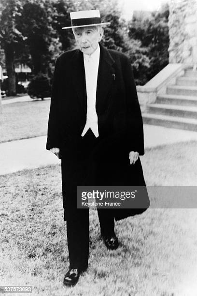 The King of Oil John Rockefeller 94 years old after having attended a religious service on July 11 1933 in Lakewood United States