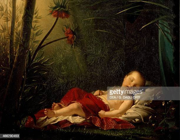 The King of Rome in the likeness of Love sleeping painting by PierrePaul Prud'hon oil on canvas 42x542 cm