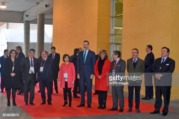 CATALONIA SPAIN The King of Spain Felipe VI the VicePresident of the Government and Minister for the Presidency Soraya Sáenz de Santamaría the Major...