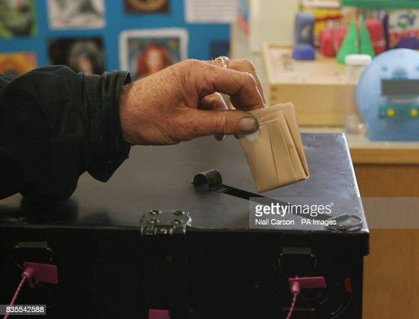 The King of Tory Island Patsy Dan Rodgers is first to cast his vote as islanders go to the polls a day earlier in the Local and European elections