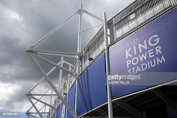 The King Power Stadium home to Leicester City football club is seen in Leicester central England on May 3 after the team won the English Premier...