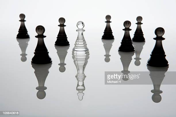 The king who lies hidden in the crowd of the pawn